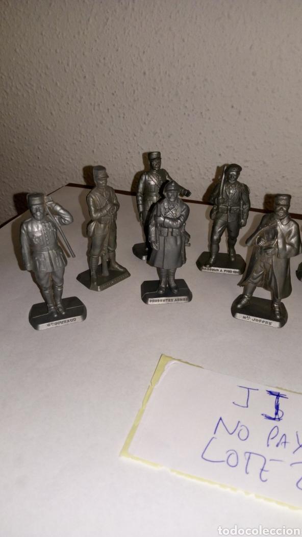 Figuras de Goma y PVC: Lote 13 oficiales soldados de guerra mokarex Francia alguno puede tener pqña falta - Foto 2 - 243681910