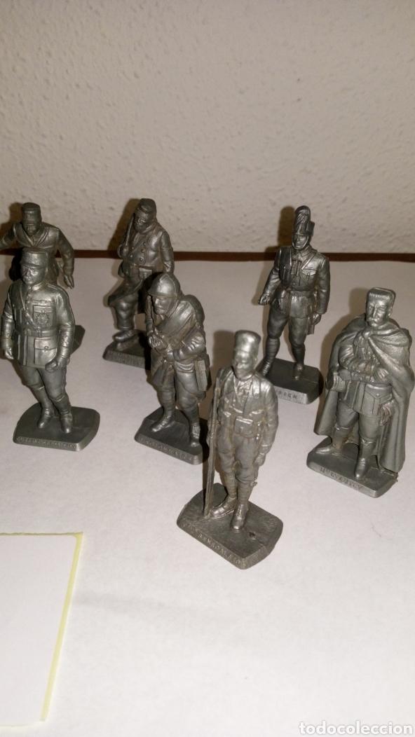 Figuras de Goma y PVC: Lote 13 oficiales soldados de guerra mokarex Francia alguno puede tener pqña falta - Foto 3 - 243681910
