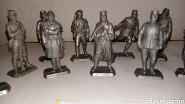 Figuras de Goma y PVC: Lote 13 oficiales soldados de guerra mokarex Francia alguno puede tener pqña falta - Foto 4 - 243681910