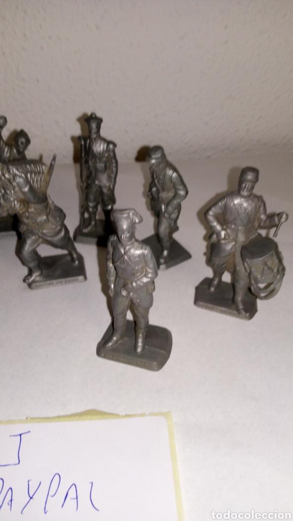 Figuras de Goma y PVC: Lote 12 soldado oficial mokarex Francia alguno puede tener pqña rotura - Foto 3 - 243682665