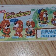 Figuras Kinder: BPZ KINDER PAPEL INSTRUCCIONES FERRERO ANTIGUO LEONES LEOVENTURAS AVENTURAS PRECIO UNIDAD (BOL 1). Lote 243867510