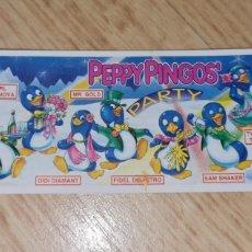 Figuras Kinder: BPZ KINDER PAPEL INSTRUCCIONES PEPPY PINGOS PINGÜINOS PARTY FOLLETO FIGURAS FERRERO ANTIGUA (BOL 1). Lote 243868375