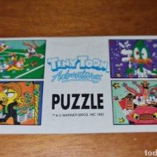 Figuras Kinder: BPZ TOMBOLA PAPEL INSTRUCCIONES PUZZLE WARNER BROS 1992 TINY TOON FOLLETO FIGURAS NO KINDER (BOL 1A. Lote 243873205