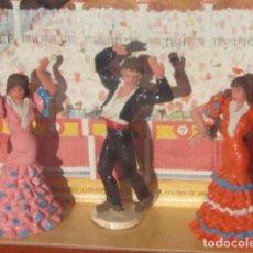 Figuras de Goma y PVC: BAILADORES DE FLAMENCO EN EL TABLAO - TEIXIDOR. Lote 243900050