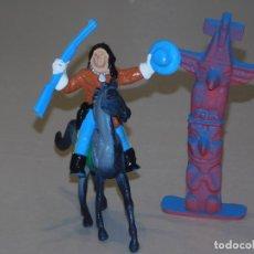 Figuras de Goma y PVC: COMANSI III TEMPORADA *TÓTEM CON INDIO FEDERAL CON RIFLE Y SOMBRERO A CABALLO* 2 FOTOS. Lote 243906580