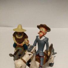 Figuras de Goma y PVC: DON QUIJOTE Y SANCHO PANZA, CON SUS MONTURAS. FIGURAS PVC 1979. Lote 243932760