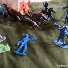 Figure di Gomma e PVC: LOTE SOLDADOS ANTIGUOS INDIOS VAQUEROS COMANSI JECSAN LAFREDO. Lote 244024935