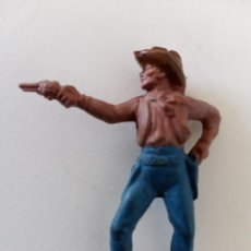 Figuras de Goma y PVC: FIGURA VAQUERO GOMA REAMSA. Lote 244202855