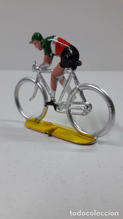 Figuras de Goma y PVC: CICLISTA . REALIZADO POR M. SOTORRES . ORIGINAL AÑOS 60 - Foto 4 - 244467345