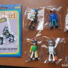 Figuras de Goma y PVC: OCASION COLECCIONISTAS LOTE VARIADOS MUÑECOS FIGURAS AÑOS 80 COMAN BOYS DE COMANSI Y CARTON D REGALO. Lote 244842100