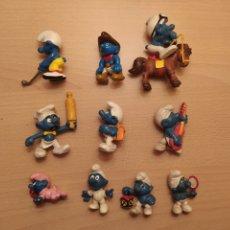 Figuras de Goma y PVC: FIGURAS PITUFOS PITUFINA MARCA PEYO SCHLEICH DESCATALOGADOS PVC AÑOS 80 (PRECIO UNIDAD). Lote 188474627