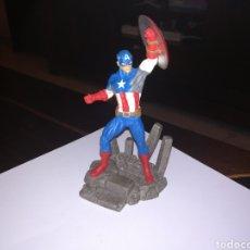 Figuras de Goma y PVC: SCHLEICH FIGURA DE PVC CAPITAN AMERICA MARVEL. Lote 244923985