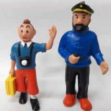 Figuras de Goma y PVC: FIGURA GOMA TINTIN Y HADDOCK COMIC SPAIN. Lote 245184515