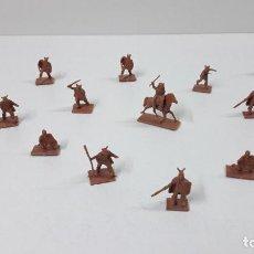 Figuras de Goma y PVC: LOTE DE SOLDADITOS MONTAPLEX - VIKINGOS . ORIGINAL AÑOS 70 / 80. Lote 245277140