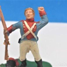 Figuras de Goma y PVC: ANTIGUA FIGURA EN PLÁSTICO DE REAMSA. SOLDADO DE LA GUERRA DE LA INDEPENDENCIA. REF PAT - 234. Lote 245284290