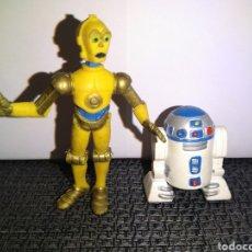 Figuras de Goma y PVC: C3PO C3 PO R2D2 R2 D2 2 FIGURAS PVC ORIGINALES COMICS SPAIN LA GUERRA DE LAS GALAXIAS STAR WARS. Lote 245441295