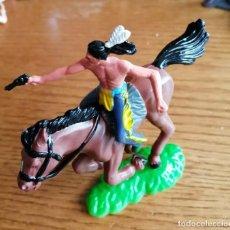 Figuras de Goma y PVC: FIGURA INDIO A CABALLO.. (COMANSI, JECSAN, SOTORRES, LAFREDO, REIGON ETC.). Lote 245474655