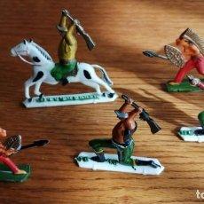 Figuras de Goma y PVC: LOTE INDIOS Y VAQUEROS BLACK HAU (COMANSI, JECSAN, SOTORRES, LAFREDO, REIGON ETC.). Lote 245484100