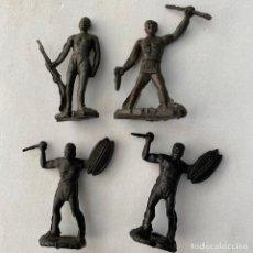 Figuras de Goma y PVC: MUÑECOS-FIGURAS NEGRO DEL SAFARI ÁFRICA DE MAIRZA O MONTAPLEX AÑOS 60 SOLDADOS-GUERREROS. Lote 245781710
