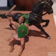 Figuras de Borracha e PVC: CENTURION ROMANO A CABALLO JECSAN COMPLETO Y EN BUEN ESTADO. Lote 245843000
