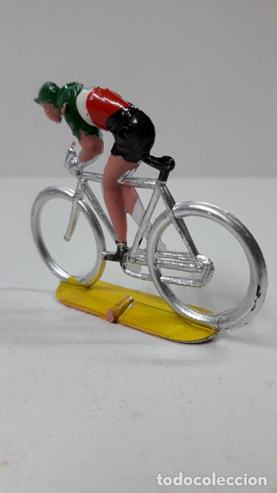 Figuras de Goma y PVC: CICLISTA . REALIZADO POR M. SOTORRES . ORIGINAL AÑOS 60 - Foto 4 - 245972845