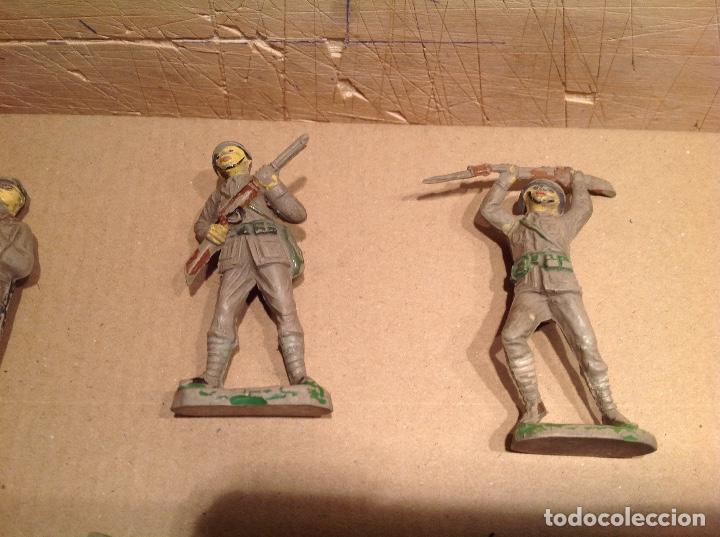 Figuras de Goma y PVC: 7 figuras infantería japonesa de goma .Jecsan - Foto 2 - 245999350