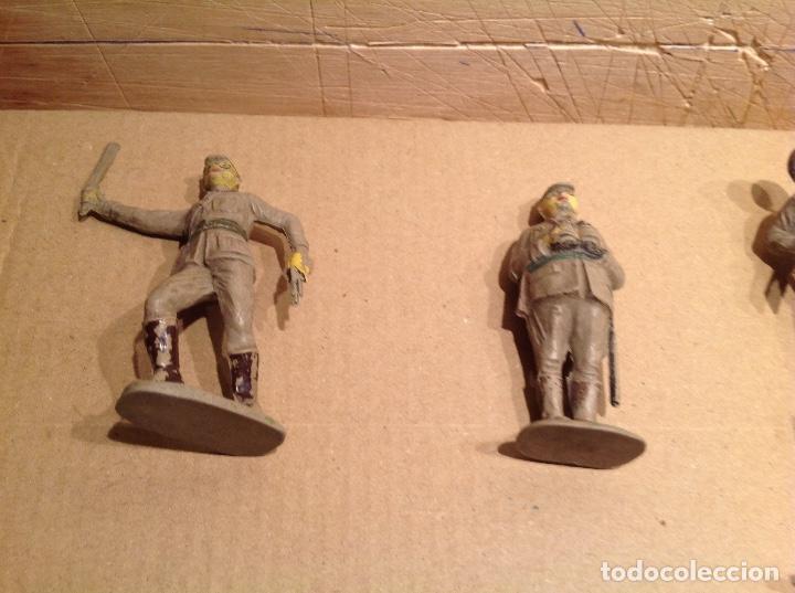 Figuras de Goma y PVC: 7 figuras infantería japonesa de goma .Jecsan - Foto 3 - 245999350