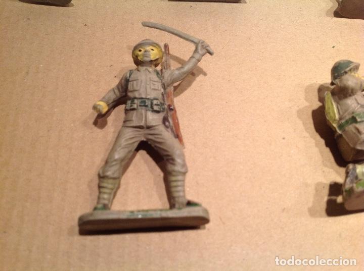 Figuras de Goma y PVC: 7 figuras infantería japonesa de goma .Jecsan - Foto 5 - 245999350