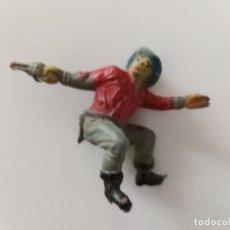 Figuras de Goma y PVC: VAQUERO PECH HNOS GOMA. Lote 246010830