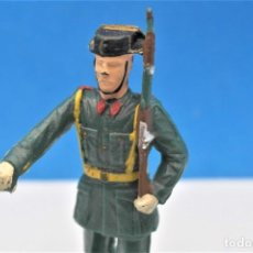 Figure di Gomma e PVC: ANTIGUA FIGURA EN PLÁSTICO. GUARDIA CIVIL DESFILANDO. MADE IN SPAIN. VER FOTOS Y LEER DESCRIPCION. Lote 246155805