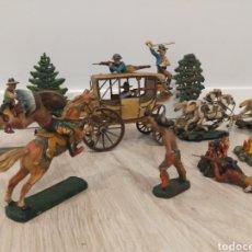 Figuras de Goma y PVC: ELASTOLIN ATAQUE DILIGENCIA ( NO REAMSA JECSAN ). Lote 246169465