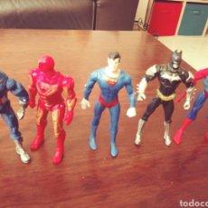 Figuras de Goma y PVC: FIGURAS DE BATMAN. SUPERMAN, SPIDERMAN. Lote 246298940