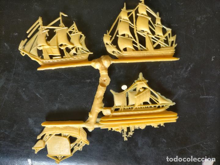Figuras de Goma y PVC: HAGA SU OFERTA POR LOTES, montaplex monta plex barcos vela veleros amarillos - Foto 2 - 246651430