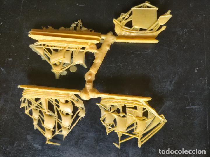 Figuras de Goma y PVC: HAGA SU OFERTA POR LOTES, montaplex monta plex barcos vela veleros amarillos - Foto 2 - 246651590