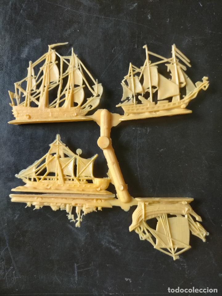 Figuras de Goma y PVC: HAGA SU OFERTA POR LOTES, montaplex monta plex barcos vela veleros amarillos - Foto 2 - 246651710
