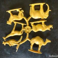 Figuras de Goma y PVC: HAGA SU OFERTA POR LOTES, MONTAPLEX MONTA PLEX ANIMALES DE LA SABANA SELVA JIRAFA RINOCERONTE TIGRE. Lote 246652035