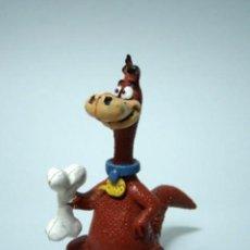 Figuras de Borracha e PVC: ANTIGUA FIGURA DE GOMA PVC DINO DE LOS PICAPIEDRA ORIGINAL DE COMICS SPAIN. Lote 246873660