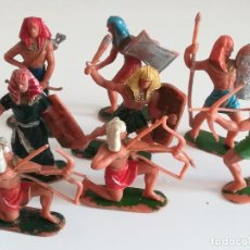Figuras de Goma y PVC: FIGURAS DE PLÁSTICO JECSAN SERIE EGIPCIOS. Lote 246968510