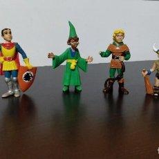 Figuras de Goma y PVC: GRAN LOTE PACK 6 FIGURAS DRAGONES MAZMORRAS DUNGEONS COMICS SPAIN. Lote 247169180