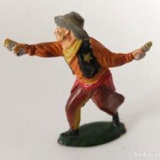 Figuras de Goma y PVC: VAQUERO GOMA TEIXIDO. Lote 247233295