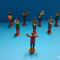 Figuras de Goma y PVC: LOTE DE 8 FIGURAS DE LA BANDA DE MÚSICA DEL CIRCO JECSAN. GOMA.. Lote 247440060