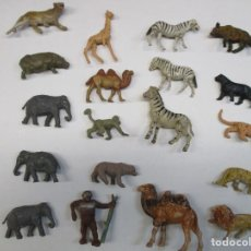 Figuras de Goma y PVC: LOTE ANIMALES 19 FIGURAS - LEONES ,ELEFANTES ,MONOS TIGRES... JECSAN -REAMSA -COMANSI. Lote 247498945