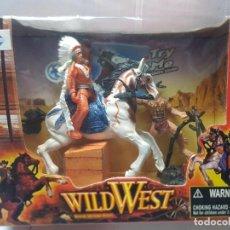 Figuras de Goma y PVC: WILD WEST WESTERN ADVENTURE HEROES DE COSAS EN BLISTER. Lote 247554600