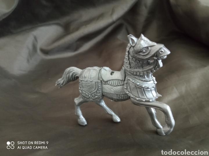 Figuras de Goma y PVC: Caballo medieval gris reamsa - Foto 2 - 247582720