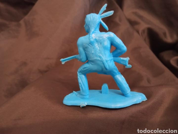 Figuras de Goma y PVC: Indio azul monocolor reamsa gomarsa soldis en plastico little Big horne - Foto 2 - 247662845