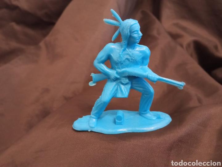 INDIO AZUL MONOCOLOR REAMSA GOMARSA SOLDIS EN PLASTICO LITTLE BIG HORNE (Juguetes - Figuras de Goma y Pvc - Reamsa y Gomarsa)