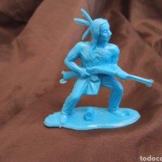 Figuras de Goma y PVC: INDIO AZUL MONOCOLOR REAMSA GOMARSA SOLDIS EN PLASTICO LITTLE BIG HORNE. Lote 247662845