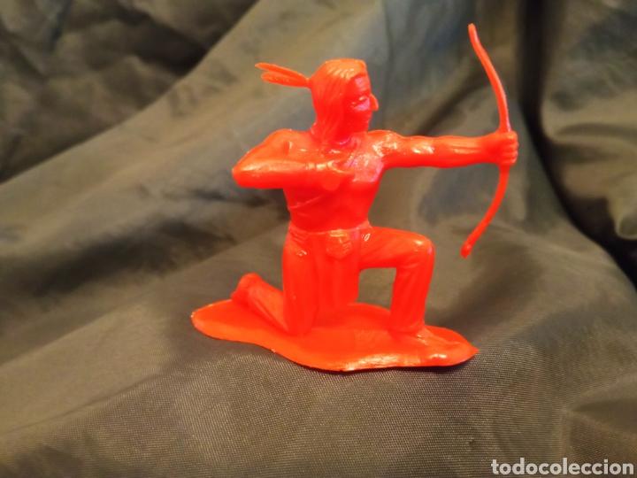 INDIO ROJO MONOCOLOR ROJO REAMSA GOMARSA SOLDIS EN PLASTICO LITTLE BIG HORNE (Juguetes - Figuras de Goma y Pvc - Reamsa y Gomarsa)