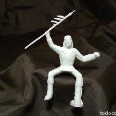 Figuras de Goma y PVC: INDIO JINETE REAMSA BLANCO MONOCOLOR REAMSA GOMARSA SOLDIS EN PLASTICO LITTLE BIG HORNE MARCADO 349. Lote 247665160
