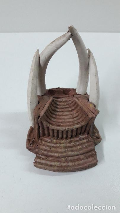 Figuras de Goma y PVC: TRONO AFRICANO . REALIZADO POR ARCLA . ORIGINAL AÑOS 50 EN GOMA - Foto 3 - 247755790